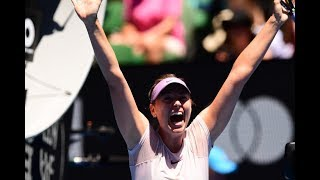 Sharapova vs Sevastova match highlights - The sweet joys of winning