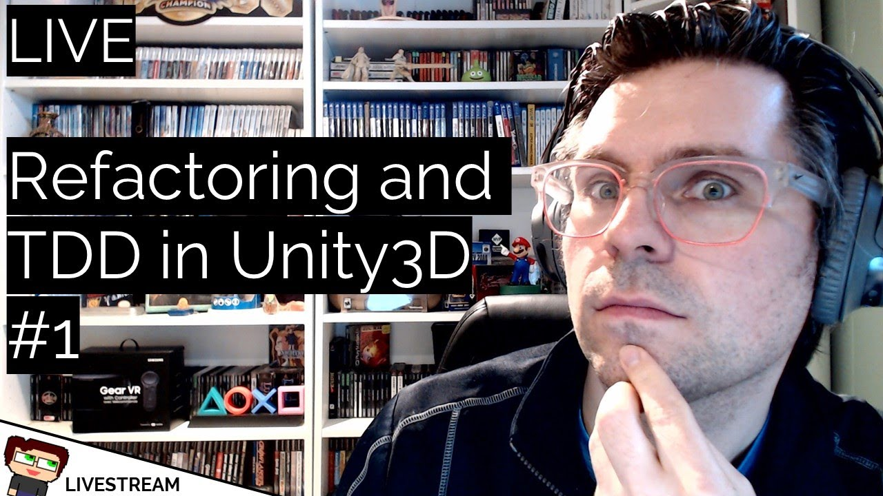 Thumbnail images for LIVE: Writing Test Code in Unity3D video