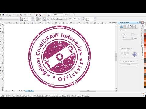 Cara Membuat Stempel Terlihat Lebih Riil dengan CorelDRAW | Belajar CorelDRAW