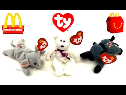 2016 ELECTIONS USA McDONALD S TY TEENIE BEANIE BABIES PLUSH HAPPY MEAL TOYS  2000 SET PRESIDENT TRUMP 7761adb354e