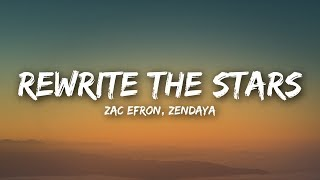 Gambar cover Zac Efron, Zendaya - Rewrite The Stars (Lyrics / Lyrics Video)