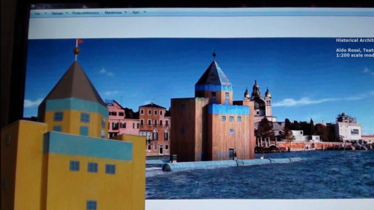 Aldo Rossi Teatro Del Mondo Scale Model 1 200 Youtube