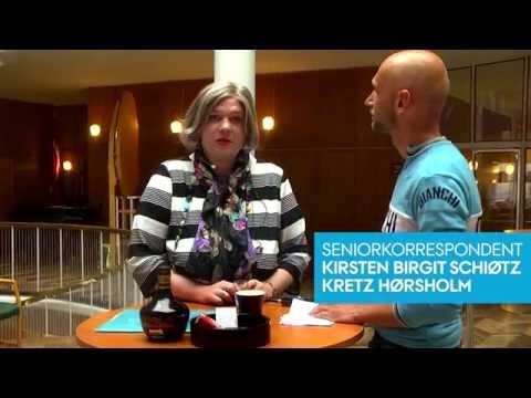 Kirsten Birgit Schiøtz Kretz Hørsholm besøger Aarhus Rådhus