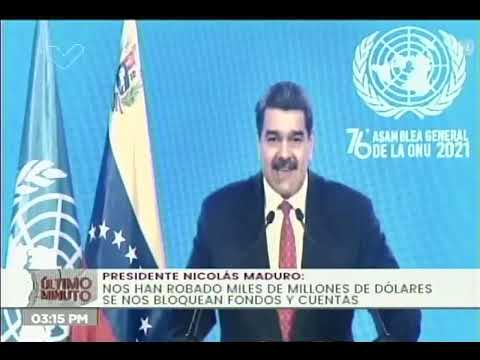 Presidente Nicolás Maduro en la Asamblea General de la ONU, 22 de septiembre de 2021