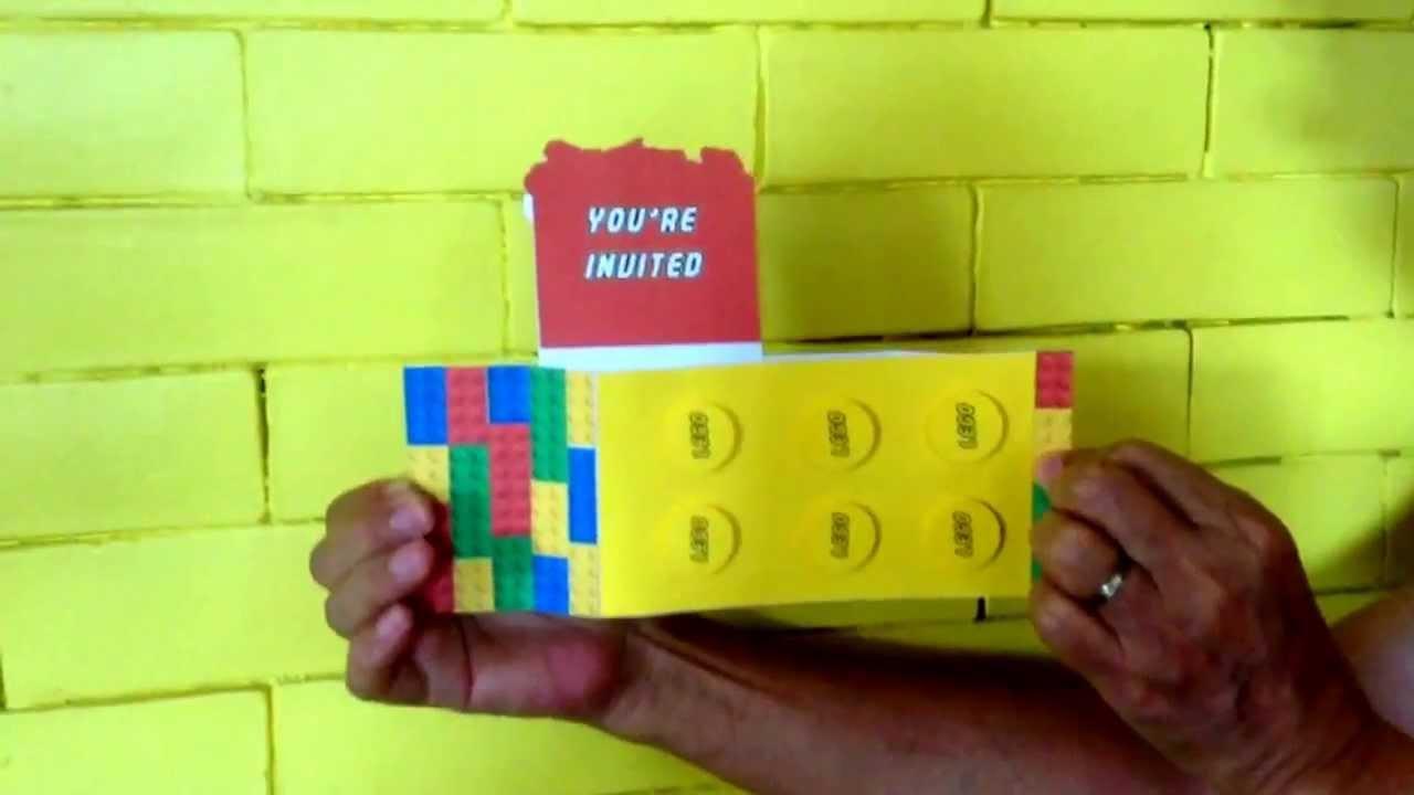 Lego Interactive Birthday Card YouTube – Interactive Birthday Cards