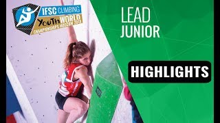 IFSC Youth World Championships Moscow 2018 - Youth A & Juniors Lead Finals Highlights
