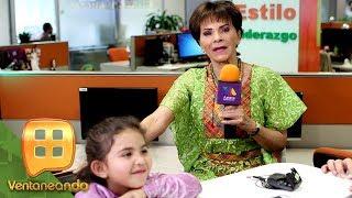 ¡Martina, la nieta de Pati Chapoy, se robó el micrófono y la atención! | Junta semanal | Ventaneando