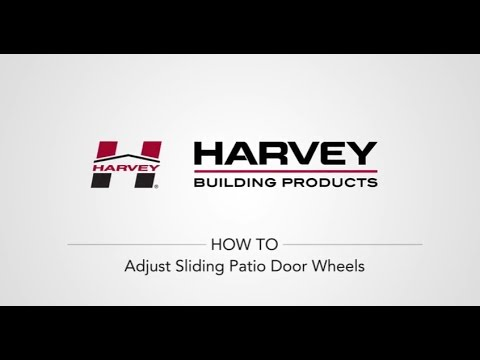 How To Adjust Your Sliding Patio Door Wheels. Harvey Building Products  sc 1 st  YouTube & How To Adjust Your Sliding Patio Door Wheels - YouTube