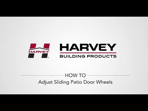 How To Adjust Your Sliding Patio Door Wheels Youtube