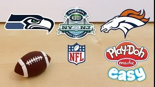 How To Make a 2014 NFL Superbowl XLVIII Football with Play-Doh