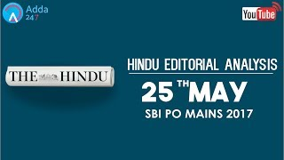 The Hindu Editorial Analysis 25th May 2017 SBI PO Online Coaching for SBI, IBPS & Bank PO