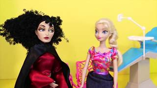 Disney Princess Frozen Elsa & Mother Gothel Go To The DENTIST Barbie Parody Doctor Ken