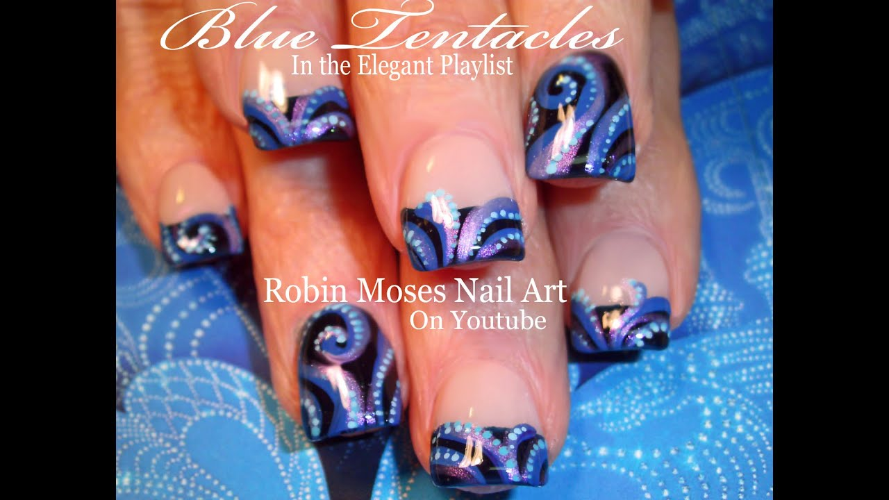 Easy octopus nail art tutorial elegant blue tentacle nails easy octopus nail art tutorial elegant blue tentacle nails design prinsesfo Image collections