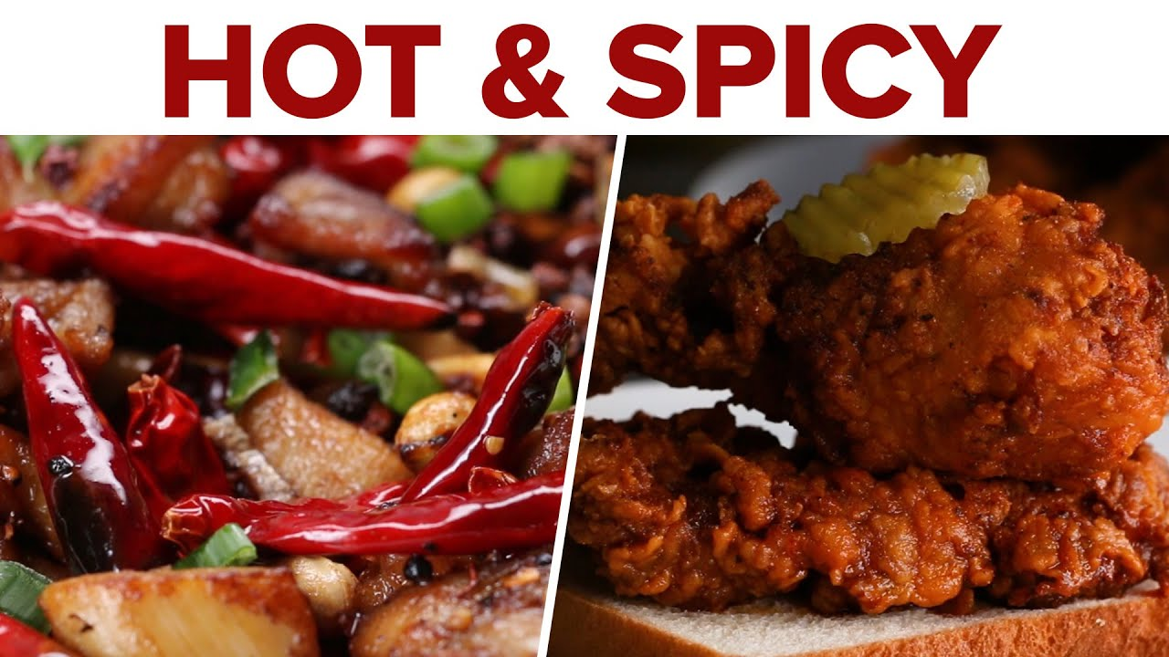 6 Hot Spicy Recipes Youtube
