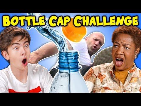 Generations React To Bottle Cap Challenge