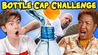 Generations React To Bottle Cap Challenge