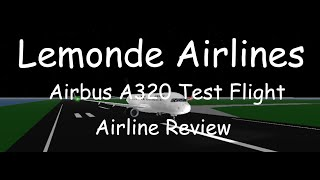 ROBLOX | Lemonde Airlines | Airbus A320 Premium Economy | Airline Review