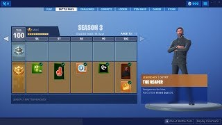 Fortnite Season 3 Battle Pass All Levels Skins, Dances, Peaks, Deltas Wing