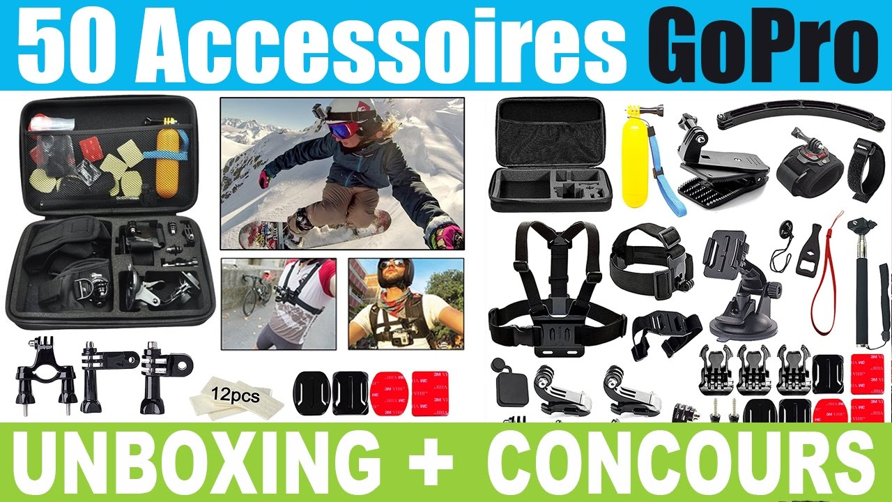 pack 50 accessoires amazon pour gopro hero et session pas. Black Bedroom Furniture Sets. Home Design Ideas