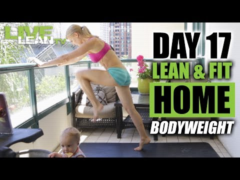 HOME SHRED #7 (BODYWEIGHT HIIT WORKOUT) | Live Lean Shred Ep. 17