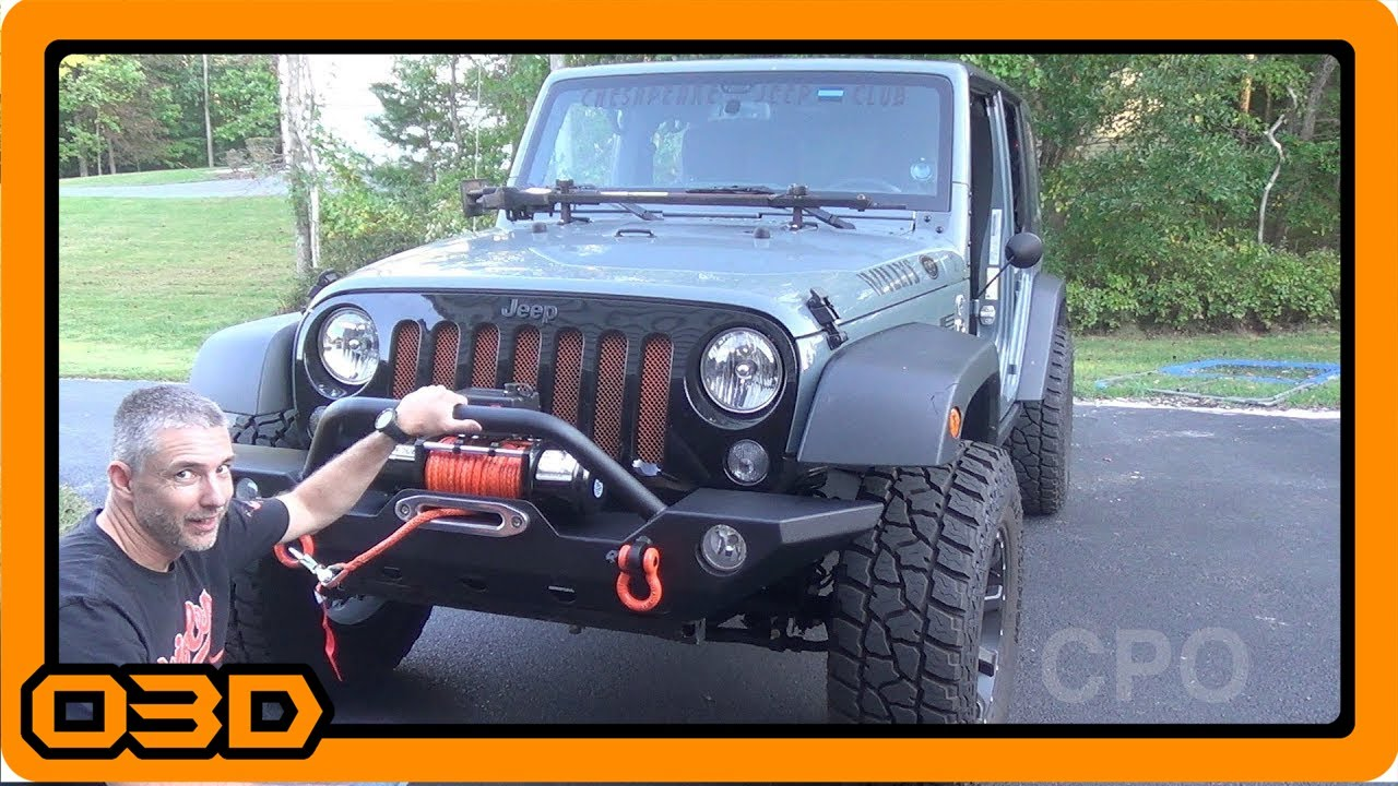 Barricade 9500lb Synthetic Winch Install Extreme Terrain Youtube Wiring Jeep Wrangler