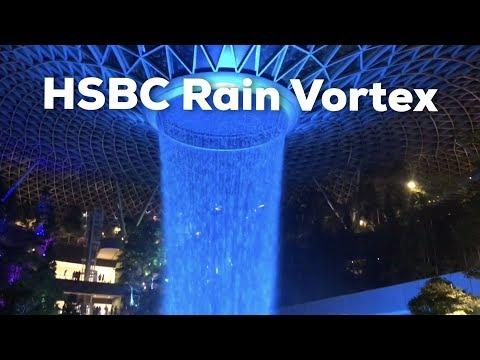 HSBC Rain Vortex At Jewel In Singapore