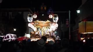 2013年 佐倉の秋祭り 栄町の屋台、美術館前で大回転♪