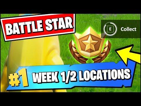 WEEK 1 & 2 SECRET BATTLE STAR LOCATION SEASON X (Fortnite Find The Battle Star In Loading Screen)