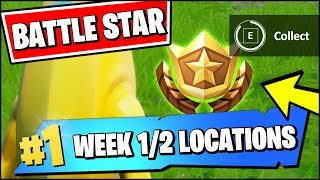 WEEK 1 & 2 SECRET BATTLE STAR LOCATION SEASON X (Fortnite Find The Battle Star in Loading Screen)