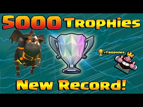 5000 Trophies in Clash Royale! 10 Straight Wins with Lava Hound Deck!