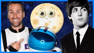 🌓 Hey Moon | Space Songs for Kids | Beatles - Hey Jude (Cover) | Preschool Learning Songs