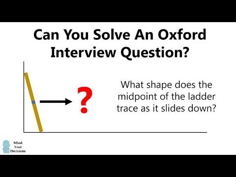 Can You Solve Oxford's Sliding Ladder Problem?