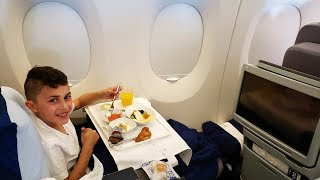 Going on Vacation Business Class Airplane Flight to Barcelona!