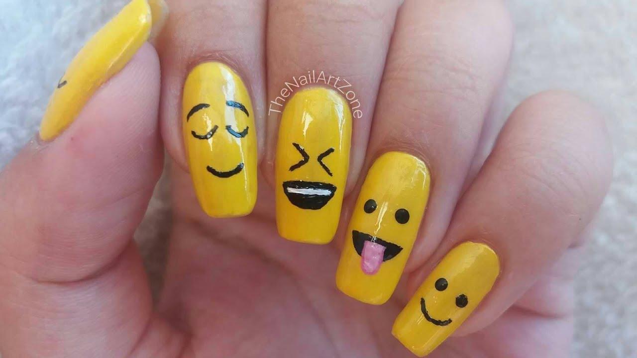 Nail Art n°18   Emoji nails - YouTube