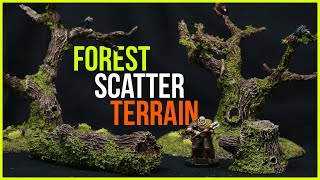 Crafting Miniature Forest Scatter Terrain for Wargaming