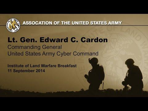 AUSA ILW Breakfast - Lt. Gen. Edward Cardon - US Army Cyber Command