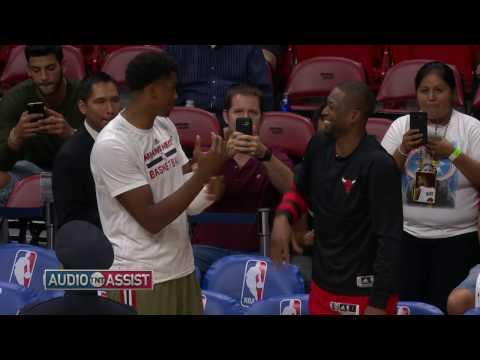 Dwyane Wade & Hassan Whiteside Discuss First Half Block