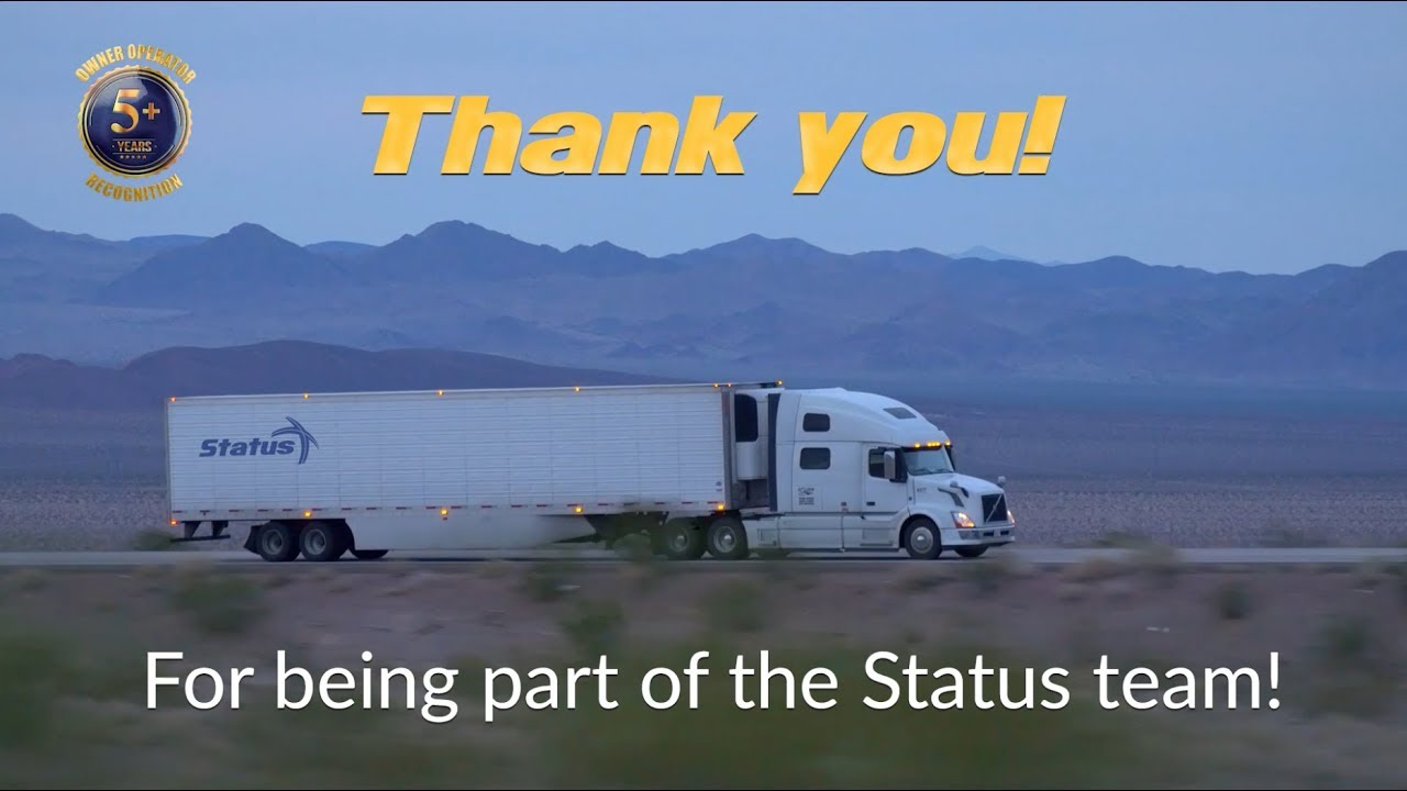 Truckers 5+ years with the company review Status Transportation