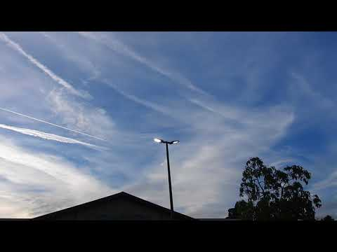 Complete War Zone Over Long Beach Ca. Jan.30, 2018