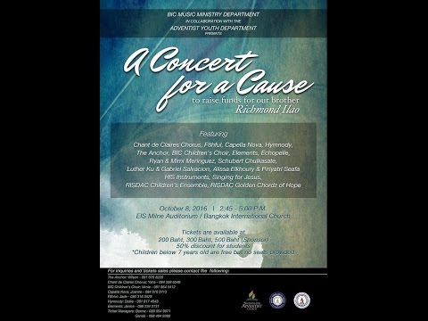 Concert For A Cause for Richmond Ilao on October 8, 2016