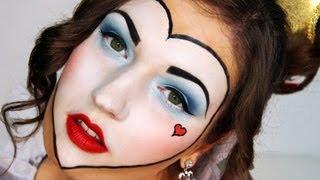 queen of hearts halloween makeup costume tutorial