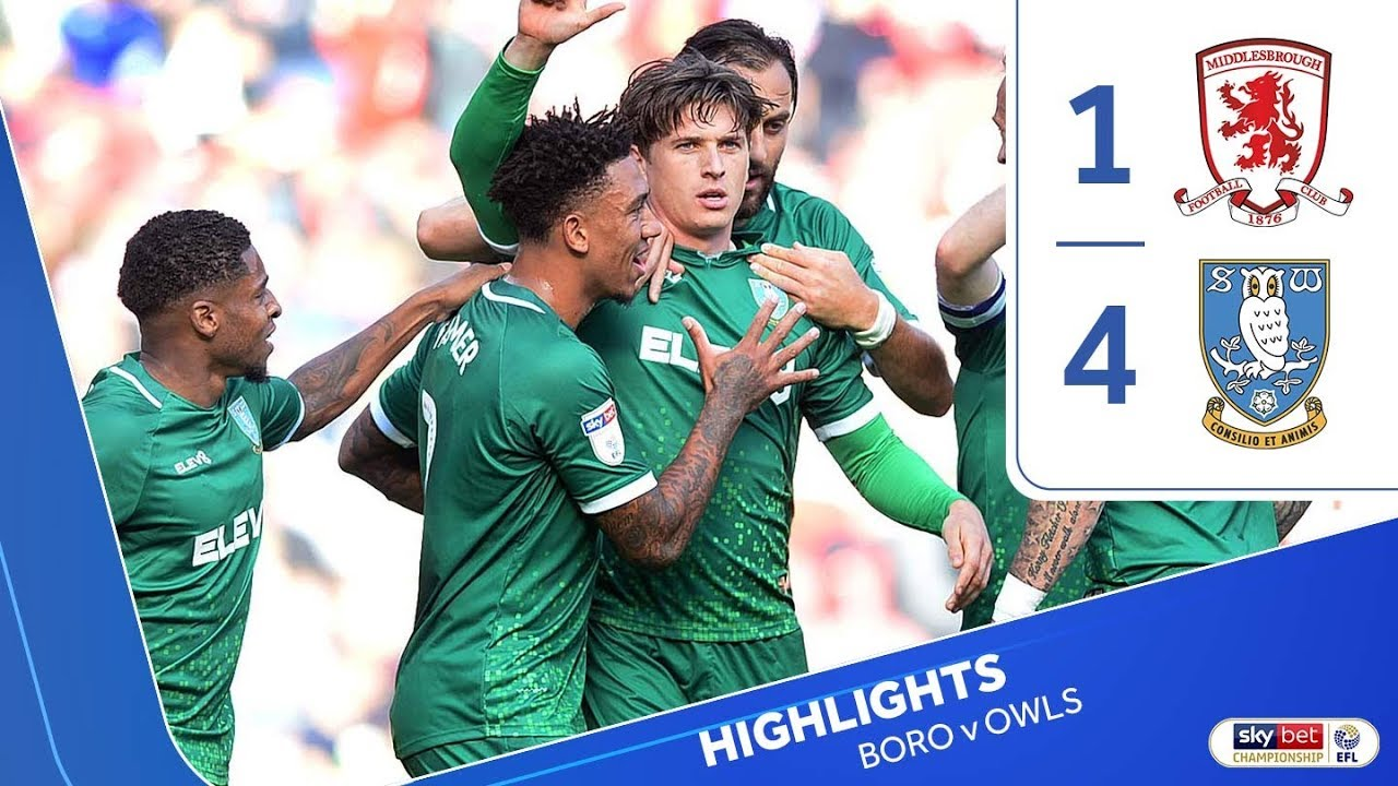 Middlesbrough 1 Sheffield Wednesday 4 | Extended highlights | 201920