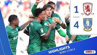 Middlesbrough 1 Sheffield Wednesday 4 | Extended highlights | 2019/20
