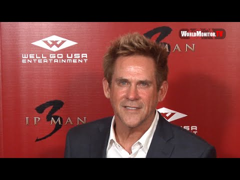 American Ninja 'Michael Dudikoff' arrives at 'Ip Man 3' LA film premiere Red Carpet
