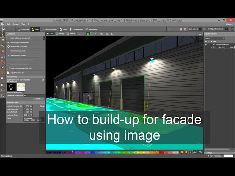 How to build-up for facade using image in Dialux evo