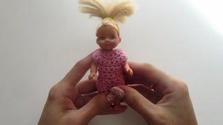 Одежда для кукол вязание крючком, вязаное платье крючком для куклы