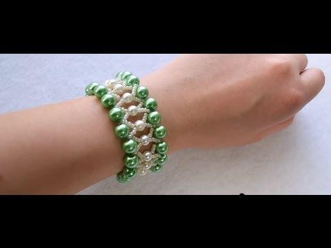 vid o 50 p comment faire un bracelet avec perles en verre. Black Bedroom Furniture Sets. Home Design Ideas