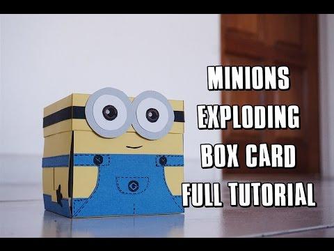 MINION EXPLODING BOX CARD FULL TUTORIAL 미니언즈 카드 만들기