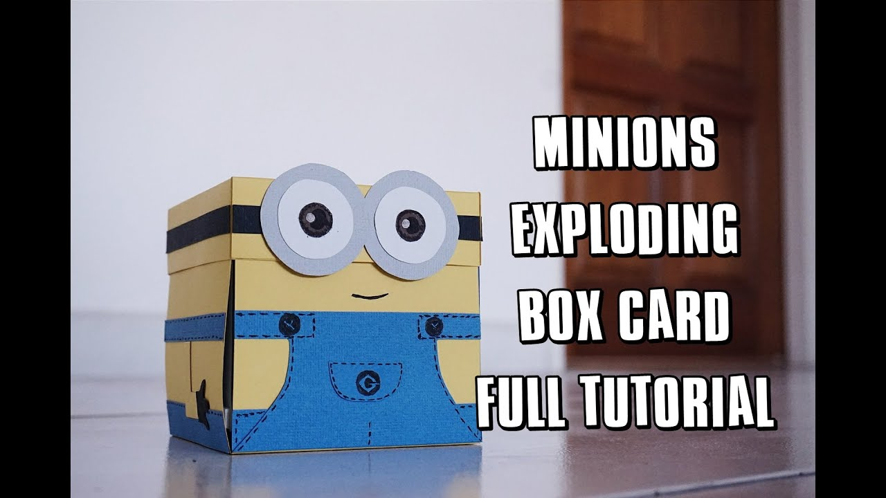 MINION EXPLODING BOX CARD FULL TUTORIAL 미니언즈 카드 만들기   YouTube