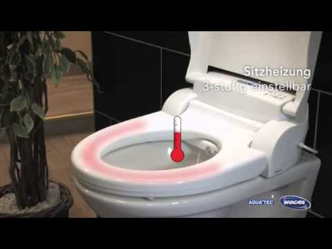 dusch wc aufsatz aquatec pure bidet automatische. Black Bedroom Furniture Sets. Home Design Ideas